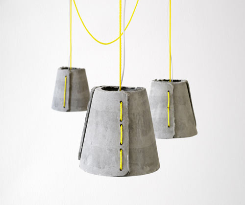 Cement Pendants by Rainer Mutsch
