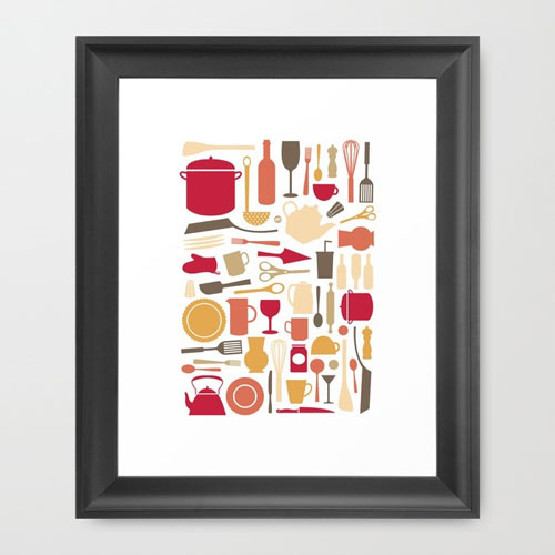 kitchenware-art-framed