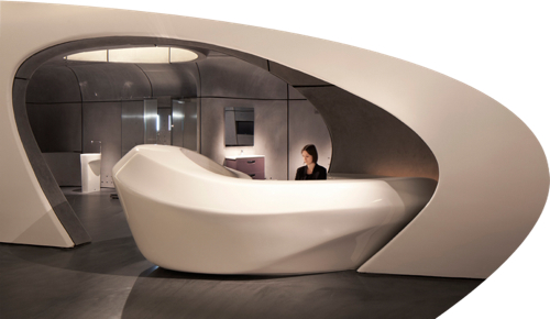 Roca London Gallery by Zaha Hadid