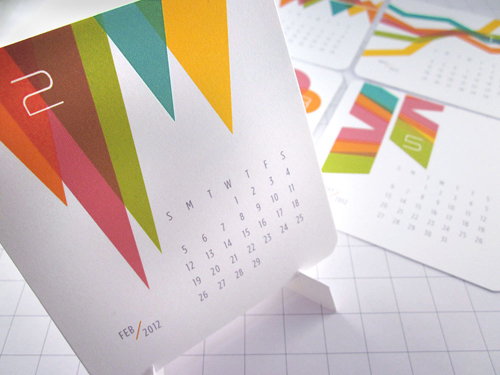 Handmade Table Calendar Designs : Modern calendars design milk