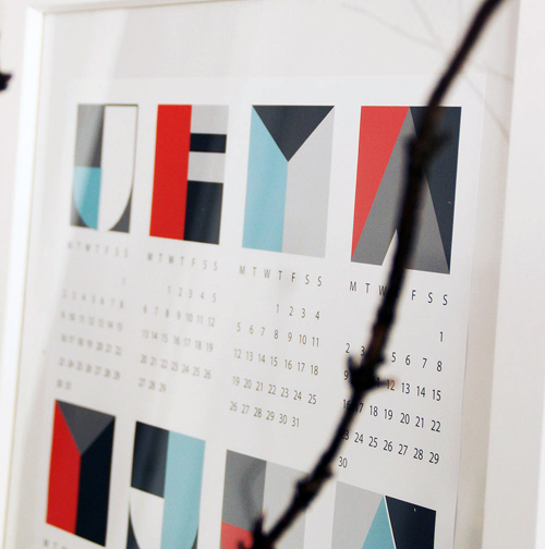 2012 Modern Calendars in style fashion main home furnishings art  Category