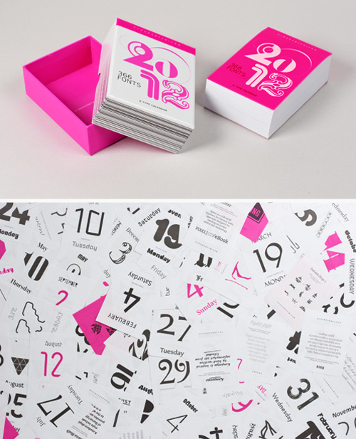 2012 Modern Calendars - Design Milk