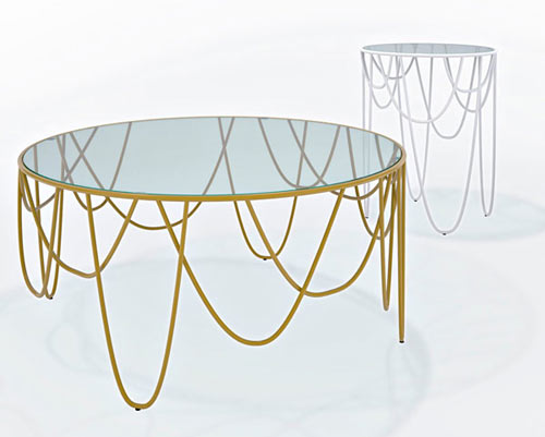 Drapery Table Collection by Nathan Yong