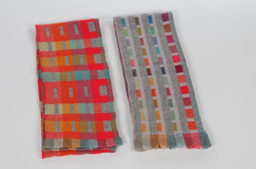 Morse Code Blankets by Holly Berry