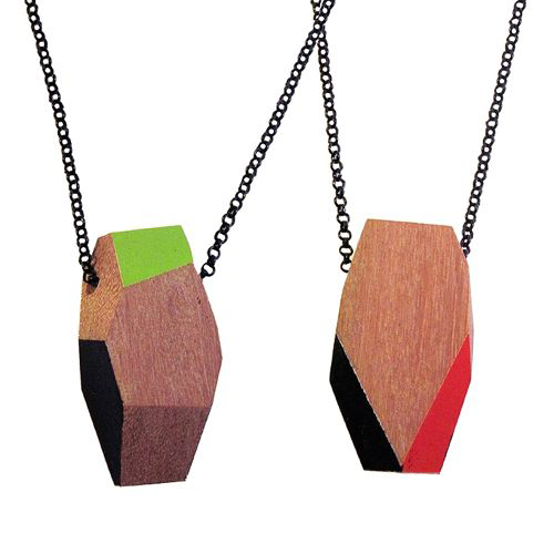 Recycled Wood Necklaces by TreeHorn Design