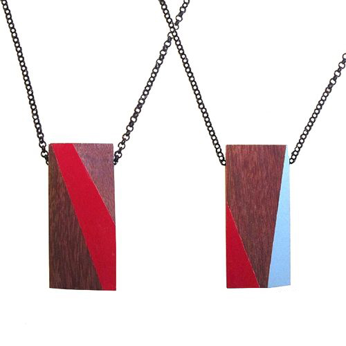 Recycled Wood Necklaces by TreeHorn Design in style fashion  Category