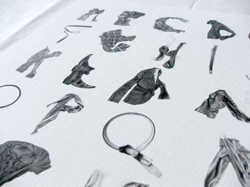 Clothing Alphabet Print by Stuart Whitton