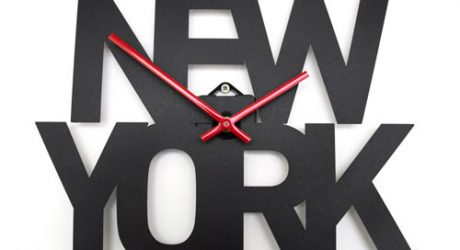 Typographic Time Zone Clocks