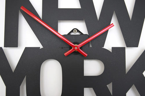 Typographic Time Zone Clocks in main home furnishings  Category
