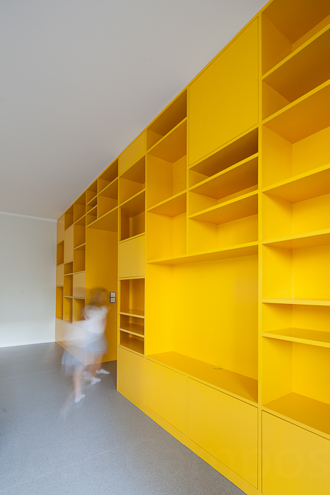 Portuguese Apartment with Yellow Storage Wall in interior design  Category