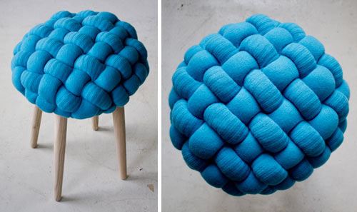 The Knit Stools Were Exhibited At Designersblock London In September 2011.  The British Wool Chair (below) Was Created For British Wool Week In October  2011 ... Amazing Design