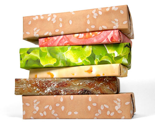 Gift Couture Hilarious Hamburger Wrapping Paper
