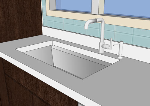 The House Milk Kitchen Project: Sink and Faucet in main interior design  Category