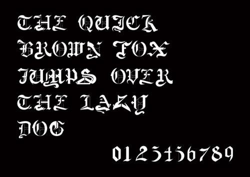 Bednarski-Font-NeoGotik-2
