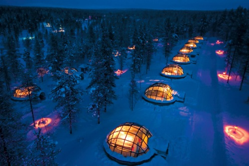 Igloo Village Kakslauttanen in interior design architecture  Category