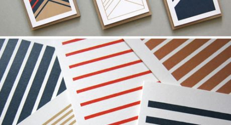 Stripetown & Herringbone Cards by Karte Design Fabrik