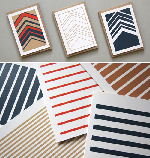Stripetown & Herringbone Cards by Karte Design Fabrik