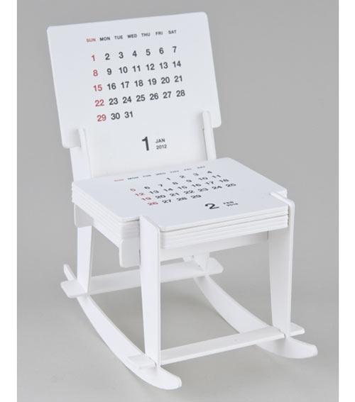 Rocking Chair Sculpture Calendar 2012