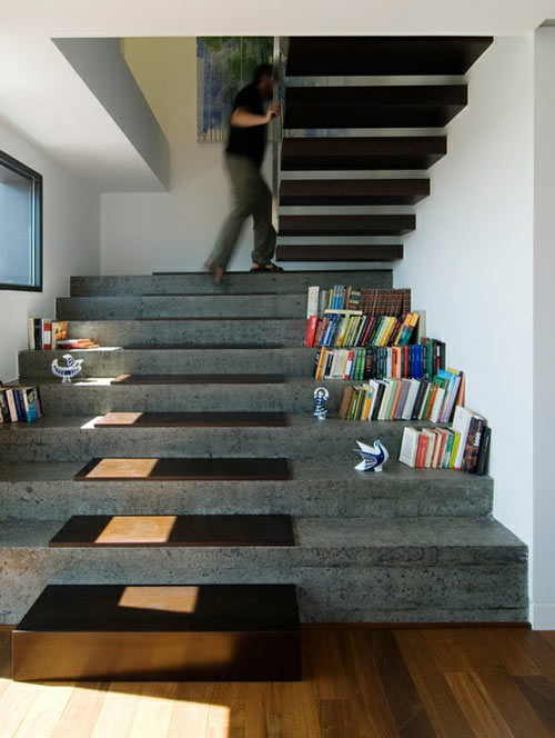 Charmant Designed By Castroferro Arquitectos, These Extra Wide Stone Stairs With  Wood Treads On Top Match The Floating Wood Stairs Above, All With Enough  Room To ...