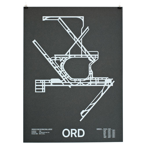 Airport Runway Screenprints by NOMO Design