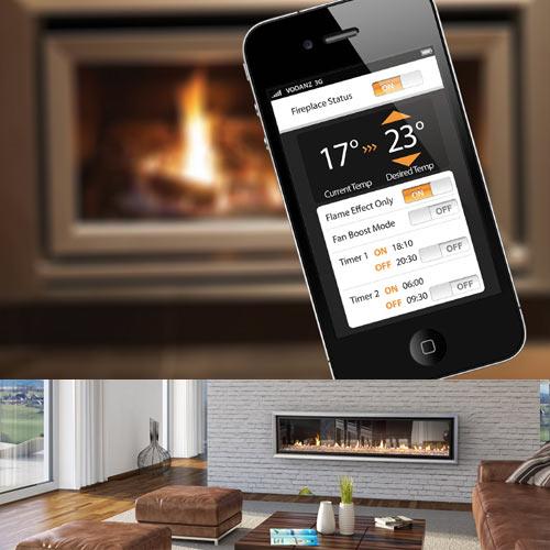 WiFi Gas Fireplace - Design Milk