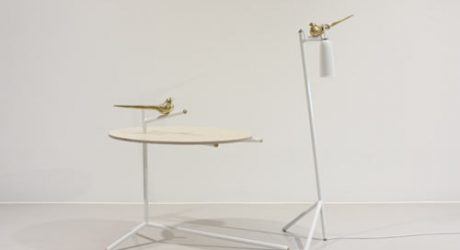 Uccello Table and Lamp