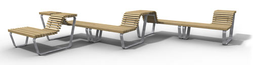 Get Out! M² Bench by Studio Segers