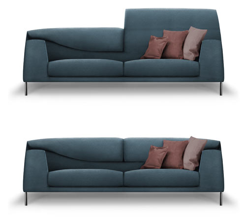 Vita Sofa by Mauro Lipparini for Bonaldo in home furnishings  Category