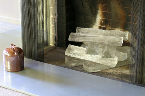 Glass Logs in interior design home furnishings art  Category