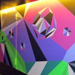 Matt W. Moore Mural at Vincci Bit Hotel in Barcelona