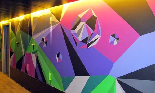 Matt W. Moore Mural at Vincci Bit Hotel in Barcelona