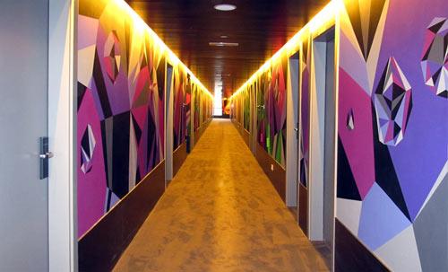Matt W. Moore Mural at Vincci Bit Hotel in Barcelona in main art  Category