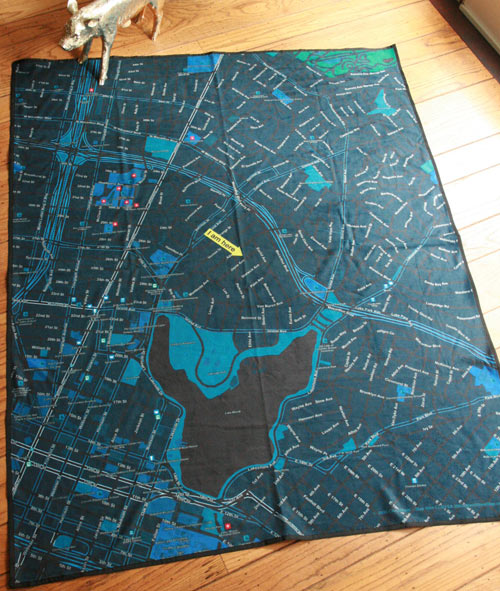 Soft Cities Map Blankets & Napkins in style fashion main home furnishings  Category