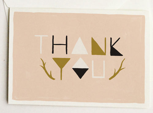 I Love The Light Blue And Gold Color Scheme Of This Letterpressed Drip Thank  You Card From Paper + Cup Design.