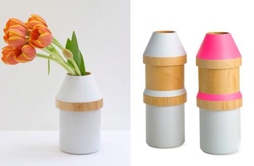 Adónde Wood U0026 Stoneware Vases ... Home Design Ideas