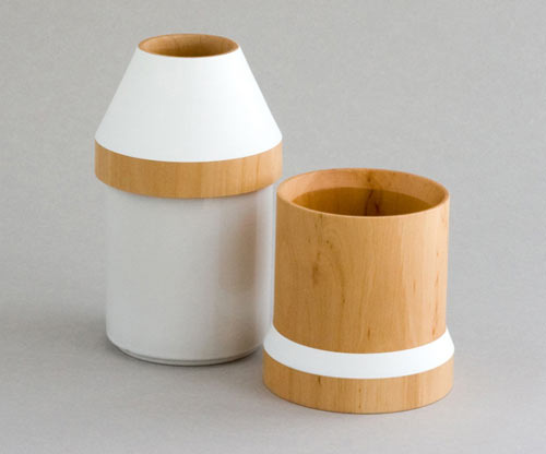 Adónde Wood & Stoneware Vases in main home furnishings  Category