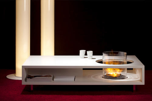 Fire Long Coffee Table Design Milk