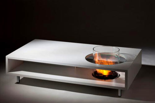 Fire Long Coffee Table Design Milk