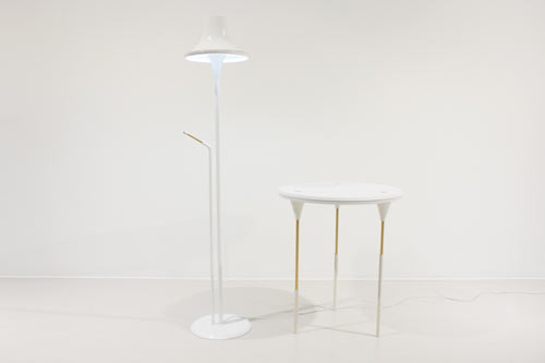 TAP Side Table and Lamp by Monocomplex