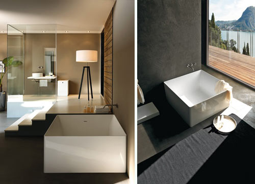 Fresh  design of the square and round bathtubs from Colacril us Atmosfere PLUS Collection Based in Italy this pany makes beautifully simple and modern bath