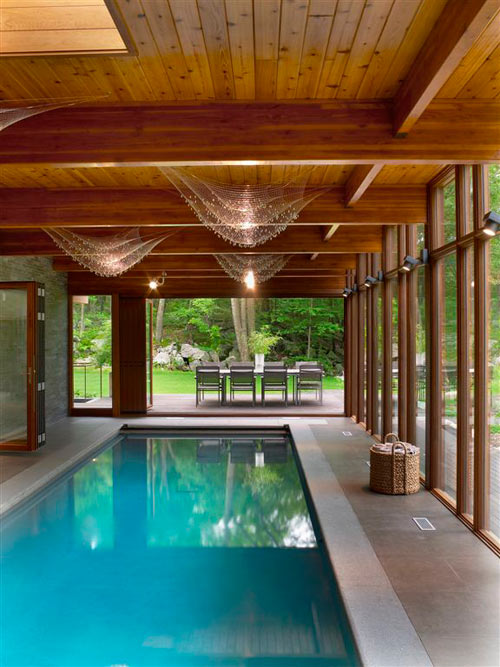 Hudson valley country house by fractal construction for Building indoor pool
