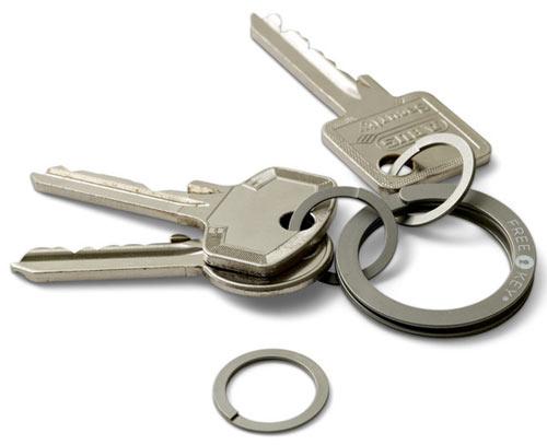 Freekey Press-to-Open Key Ring