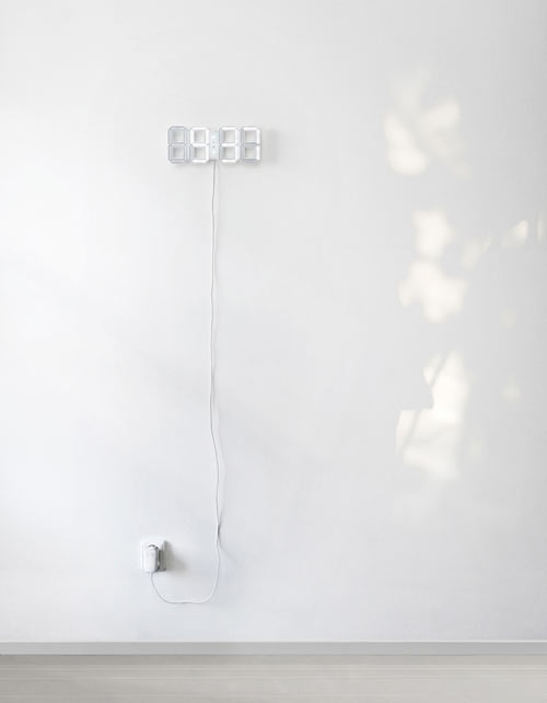 White & White Clock by Vadim Kibardin in technology home furnishings  Category