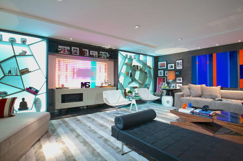 Furniture Are Mixed With Pops Of Color Throughout The LED Panel Even Changes And Pattern Beat One Coolest Features Room