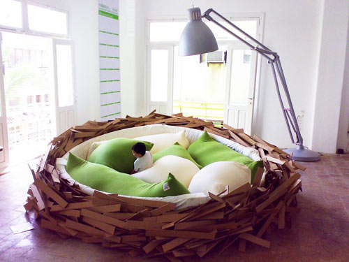 Birdsnest Bed in style fashion main interior design home furnishings architecture  Category