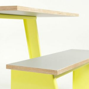 Trestle Table and Benches by Jennifer Newman