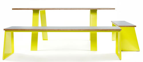 Get Out! Trestle Table and Benches by Jennifer Newman