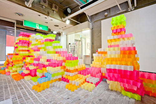 Sticky Note Structures by Yo Shimada