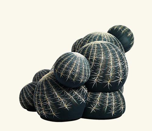 Cactus seating by maurizio galante design milk for Canape cactus sofa