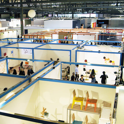 Aerial view of SaloneSatellite Milan Design Week